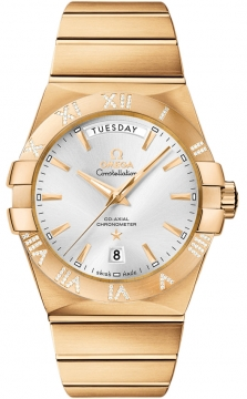 Omega Constellation Co-Axial Automatic Day Date 38mm Mens watch, model number - 123.55.38.22.02.002, discount price of £23,840.00 from The Watch Source