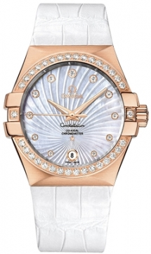Buy this new Omega Constellation Co-Axial Automatic 35mm 123.58.35.20.55.003 ladies watch for the discount price of £13,572.00. UK Retailer.