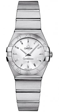 Omega Constellation Brushed 24mm Ladies watch, model number - 123.10.24.60.02.001, discount price of £1,512.00 from The Watch Source