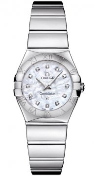 Omega Constellation Polished 24mm Ladies watch, model number - 123.10.24.60.55.002, discount price of £1,937.00 from The Watch Source