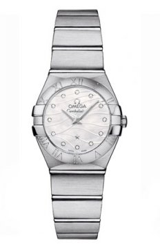 Omega Constellation Brushed 24mm Ladies watch, model number - 123.10.24.60.55.003, discount price of £2,030.00 from The Watch Source