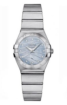 Buy this new Omega Constellation Brushed 24mm 123.10.24.60.57.001 ladies watch for the discount price of £2,329.00. UK Retailer.
