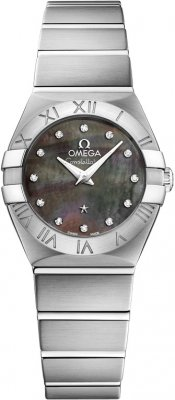 Buy this new Omega Constellation Brushed 24mm 123.10.24.60.57.003 ladies watch for the discount price of £2,538.00. UK Retailer.