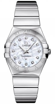 Buy this new Omega Constellation Polished 27mm 123.10.27.60.55.002 ladies watch for the discount price of £2,124.00. UK Retailer.