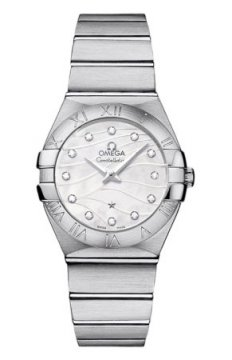 Omega Constellation Brushed 27mm Ladies watch, model number - 123.10.27.60.55.003, discount price of £2,095.00 from The Watch Source