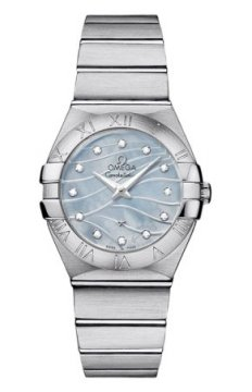 Omega Constellation Brushed 27mm Ladies watch, model number - 123.10.27.60.57.001, discount price of £2,340.00 from The Watch Source