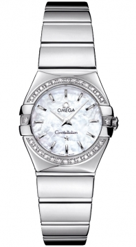 Omega Constellation Polished 24mm Ladies watch, model number - 123.15.24.60.05.002, discount price of £3,168.00 from The Watch Source