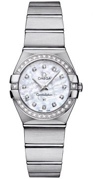 Buy this new Omega Constellation Brushed 24mm 123.15.24.60.55.001 ladies watch for the discount price of £3,564.00. UK Retailer.