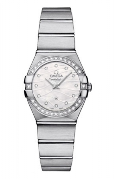 Omega Constellation Brushed 24mm Ladies watch, model number - 123.15.24.60.55.006, discount price of £3,780.00 from The Watch Source