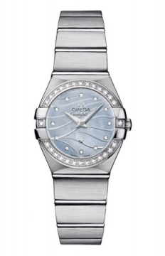 Omega Constellation Brushed 24mm Ladies watch, model number - 123.15.24.60.57.001, discount price of £3,380.00 from The Watch Source