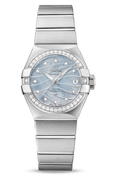 Buy this new Omega Constellation Co-Axial Automatic 27mm 123.15.27.20.57.001 ladies watch for the discount price of £5,904.00. UK Retailer.