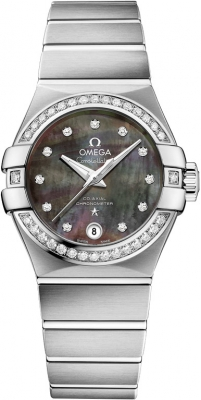 Buy this new Omega Constellation Co-Axial Automatic 27mm 123.15.27.20.57.003 ladies watch for the discount price of £6,570.00. UK Retailer.