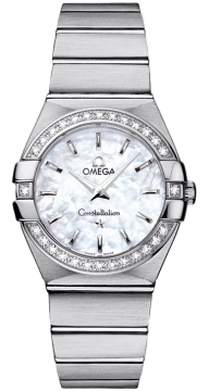 Buy this new Omega Constellation Brushed 27mm 123.15.27.60.05.001 ladies watch for the discount price of £3,564.00. UK Retailer.
