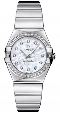 Omega Constellation Polished 27mm Ladies watch, model number - 123.15.27.60.55.003, discount price of £3,960.00 from The Watch Source