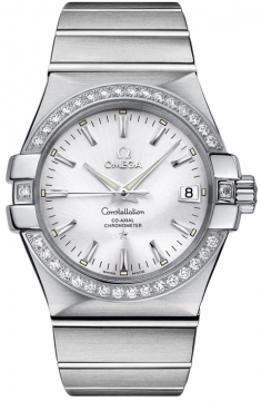 Omega Constellation Co-Axial Automatic 35mm Mens watch, model number - 123.15.35.20.02.001, discount price of £5,445.00 from The Watch Source