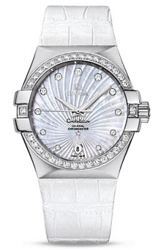 Omega Constellation Co-Axial Automatic 35mm Ladies watch, model number - 123.18.35.20.55.001, discount price of £6,125.00 from The Watch Source