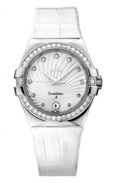 Buy this new Omega Constellation Quartz 35mm 123.18.35.60.52.001 ladies watch for the discount price of £4,495.00. UK Retailer.