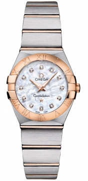 Buy this new Omega Constellation Brushed 24mm 123.20.24.60.55.001 ladies watch for the discount price of £2,952.00. UK Retailer.