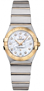 Omega Constellation Brushed 24mm Ladies watch, model number - 123.20.24.60.55.002, discount price of £2,640.00 from The Watch Source