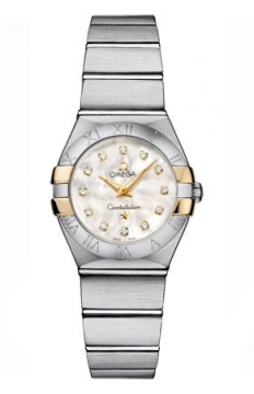 Buy this new Omega Constellation Brushed 24mm 123.20.24.60.55.006 ladies watch for the discount price of £2,376.00. UK Retailer.
