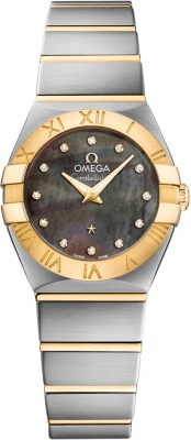 Buy this new Omega Constellation Brushed 24mm 123.20.24.60.57.006 ladies watch for the discount price of £3,438.00. UK Retailer.