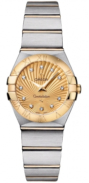 Buy this new Omega Constellation Brushed 24mm 123.20.24.60.58.001 ladies watch for the discount price of £3,348.00. UK Retailer.