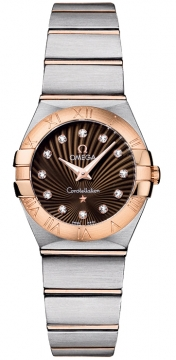 Buy this new Omega Constellation Brushed 24mm 123.20.24.60.63.001 ladies watch for the discount price of £2,880.00. UK Retailer.