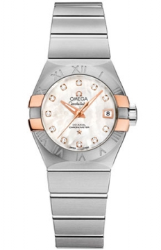 Omega Constellation Co-Axial Automatic 27mm Ladies watch, model number - 123.20.27.20.55.004, discount price of £3,865.00 from The Watch Source