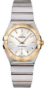 Buy this new Omega Constellation Brushed 27mm 123.20.27.60.02.002 ladies watch for the discount price of £2,592.00. UK Retailer.