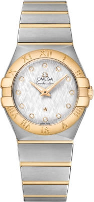 Buy this new Omega Constellation Brushed 27mm 123.20.27.60.52.001 ladies watch for the discount price of £3,534.00. UK Retailer.