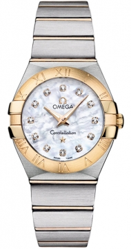 Buy this new Omega Constellation Brushed 27mm 123.20.27.60.55.002 ladies watch for the discount price of £3,659.00. UK Retailer.