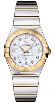 Buy this new Omega Constellation Polished 27mm 123.20.27.60.55.004 ladies watch for the discount price of £3,256.00. UK Retailer.