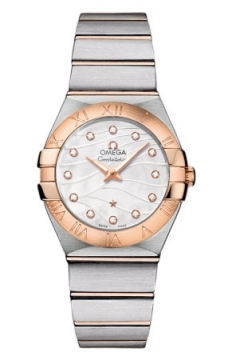 Omega Constellation Brushed 27mm Ladies watch, model number - 123.20.27.60.55.006, discount price of £3,030.00 from The Watch Source
