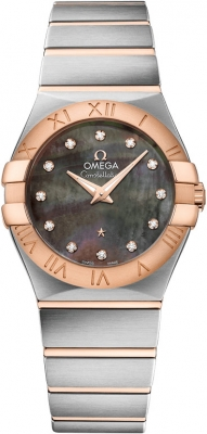 Buy this new Omega Constellation Brushed 27mm 123.20.27.60.57.006 ladies watch for the discount price of £3,685.00. UK Retailer.