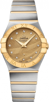Buy this new Omega Constellation Brushed 27mm 123.20.27.60.58.003 ladies watch for the discount price of £3,555.00. UK Retailer.