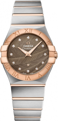 Buy this new Omega Constellation Brushed 27mm 123.20.27.60.63.003 ladies watch for the discount price of £3,145.00. UK Retailer.