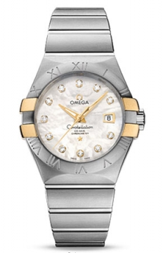 Buy this new Omega Constellation Co-Axial Automatic 31mm 123.20.31.20.55.004 ladies watch for the discount price of £4,545.00. UK Retailer.