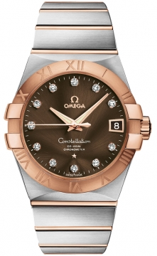 Buy this new Omega Constellation Co-Axial Automatic 38mm 123.20.38.21.63.001 mens watch for the discount price of £6,444.00. UK Retailer.