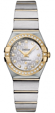 Omega Constellation Brushed 24mm Ladies watch, model number - 123.25.24.60.52.002, discount price of £3,900.00 from The Watch Source