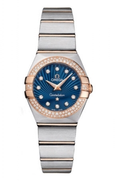 Buy this new Omega Constellation Brushed 24mm 123.25.24.60.53.001 ladies watch for the discount price of £6,255.00. UK Retailer.