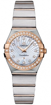 Omega Constellation Brushed 24mm Ladies watch, model number - 123.25.24.60.55.002, discount price of £4,824.00 from The Watch Source
