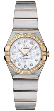 Buy this new Omega Constellation Brushed 24mm 123.25.24.60.55.003 ladies watch for the discount price of £4,536.00. UK Retailer.