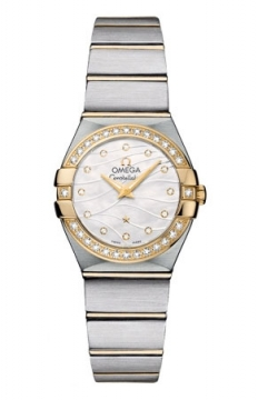 Omega Constellation Brushed 24mm Ladies watch, model number - 123.25.24.60.55.011, discount price of £4,255.00 from The Watch Source