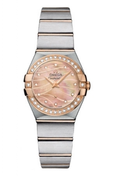 Omega Constellation Brushed 24mm Ladies watch, model number - 123.25.24.60.57.002, discount price of £4,325.00 from The Watch Source