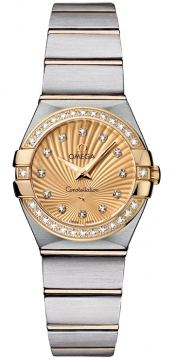 Buy this new Omega Constellation Brushed 24mm 123.25.24.60.58.001 ladies watch for the discount price of £4,428.00. UK Retailer.
