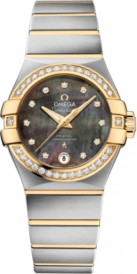 Buy this new Omega Constellation Co-Axial Automatic 27mm 123.25.27.20.57.007 ladies watch for the discount price of £6,732.00. UK Retailer.