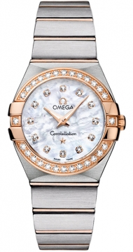 Buy this new Omega Constellation Brushed 27mm 123.25.27.60.55.001 ladies watch for the discount price of £5,040.00. UK Retailer.