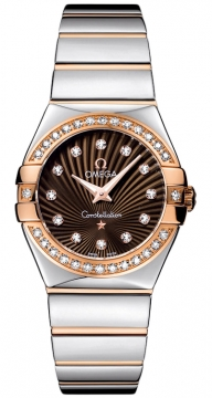 Buy this new Omega Constellation Polished 27mm 123.25.27.60.63.002 ladies watch for the discount price of £5,778.00. UK Retailer.