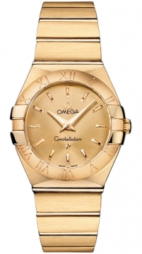 Omega Constellation Brushed 27mm Ladies watch, model number - 123.50.27.60.08.001, discount price of £8,330.00 from The Watch Source