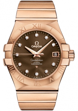 Omega Constellation Co-Axial Automatic 35mm Mens watch, model number - 123.50.35.20.63.001, discount price of £14,796.00 from The Watch Source